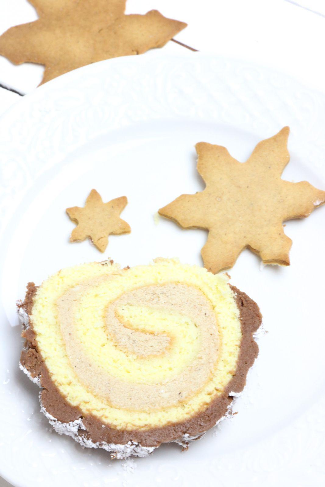 Bûche roulée à la crème de marron et chocolat @ Les Gourmands {disent} d'Armelle