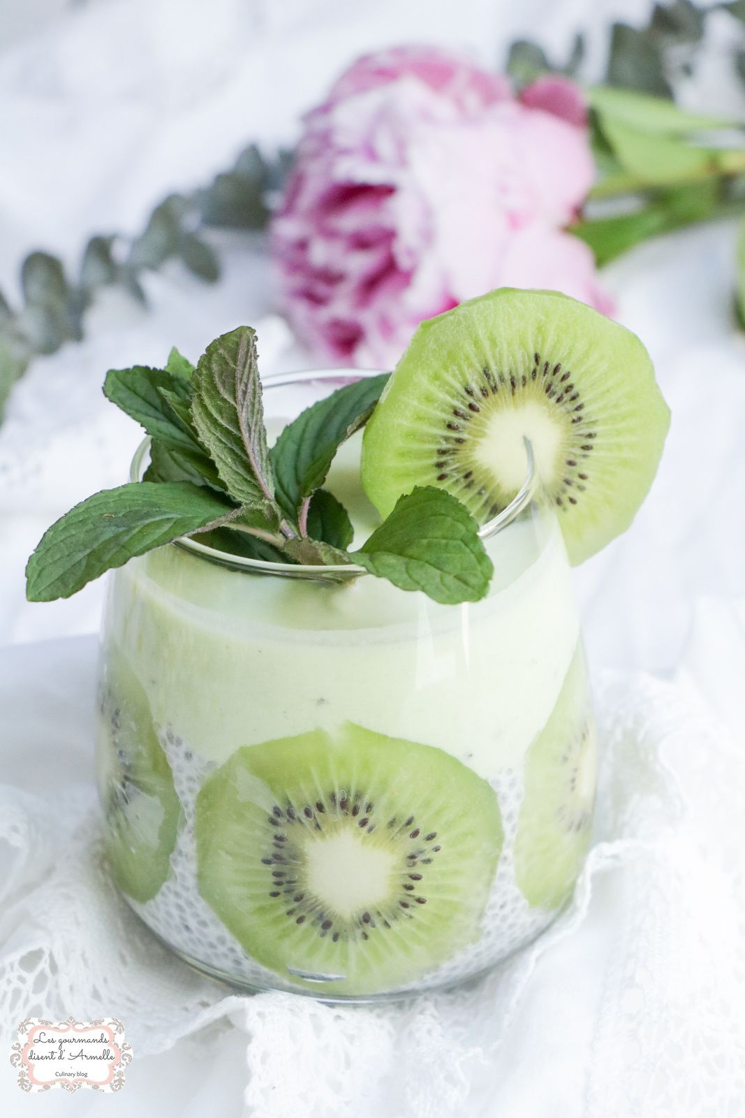 Pudding aux graines de chia lait de coco et kiwi @ Les Gourmands {disent} d'Armelle