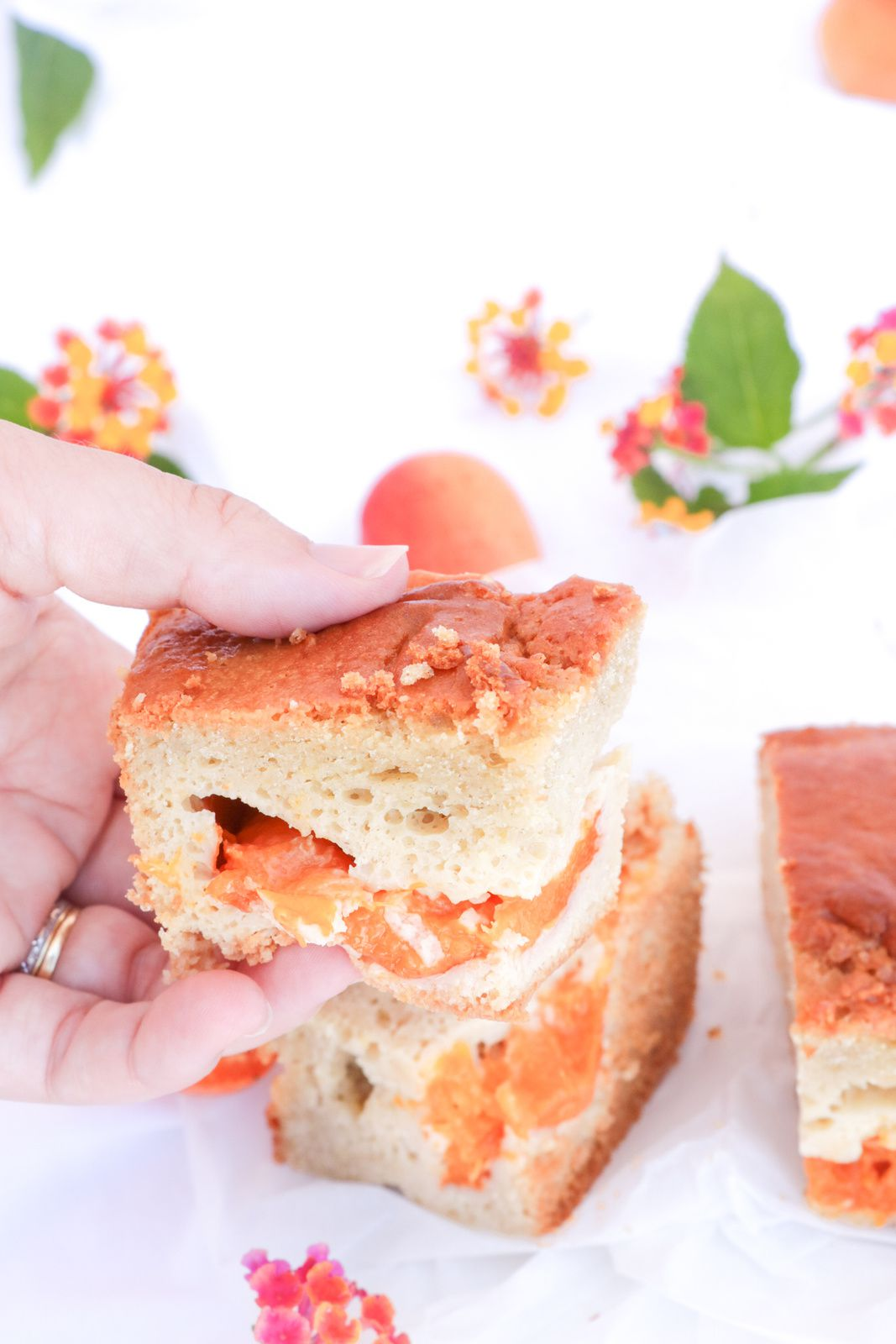 Moelleux abricot amande épeautre (sans beurre)