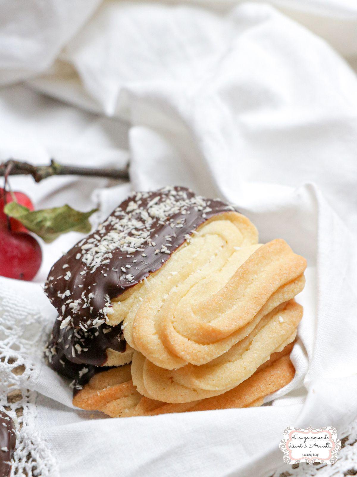 Spritz de Noël chocolat et noix de coco @ Les Gourmands {disent} d'Armelle