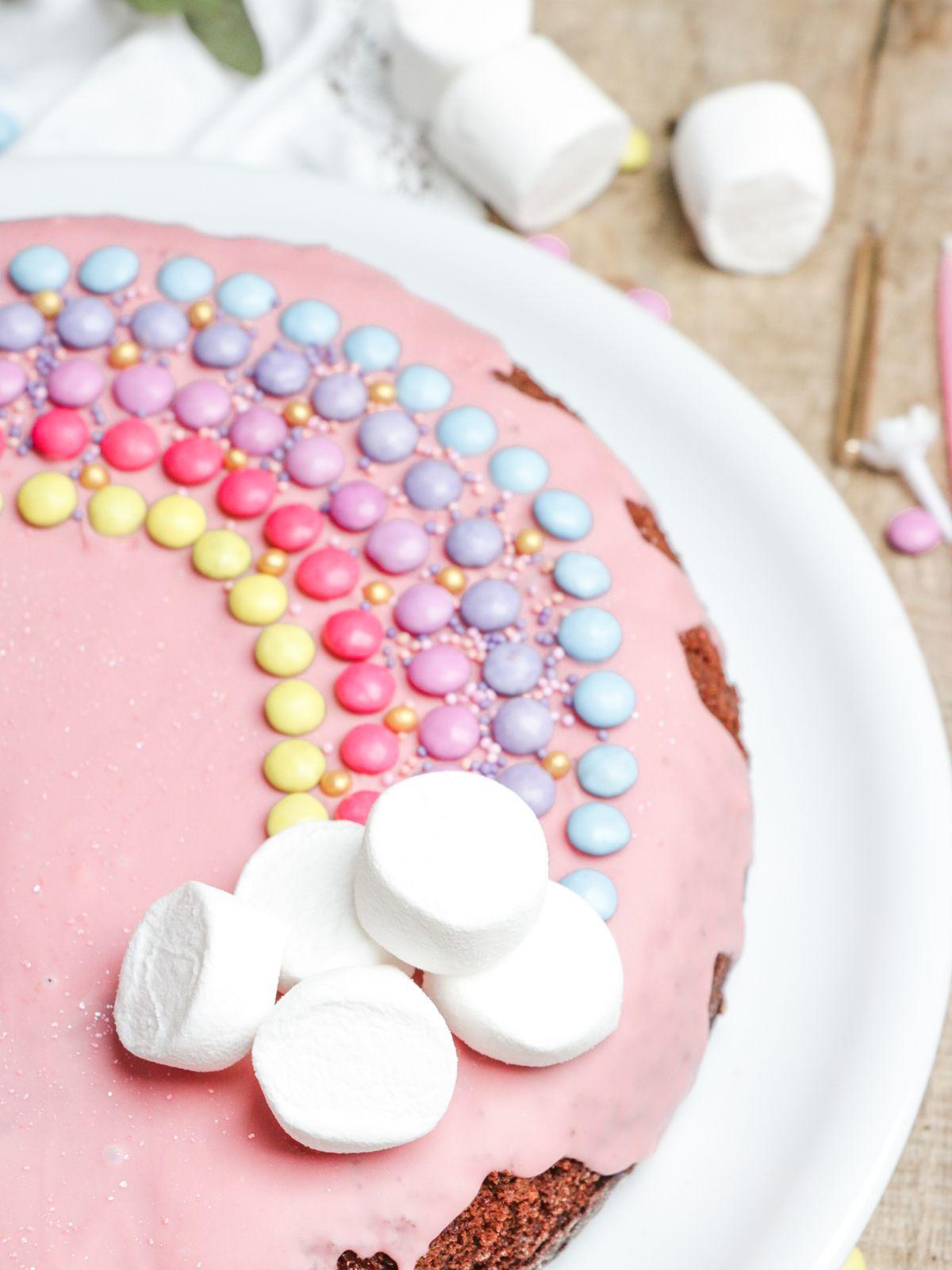 Gâteau d'anniversaire Arc-en-Ciel @ Les Gourmands {disent} d'Armelle