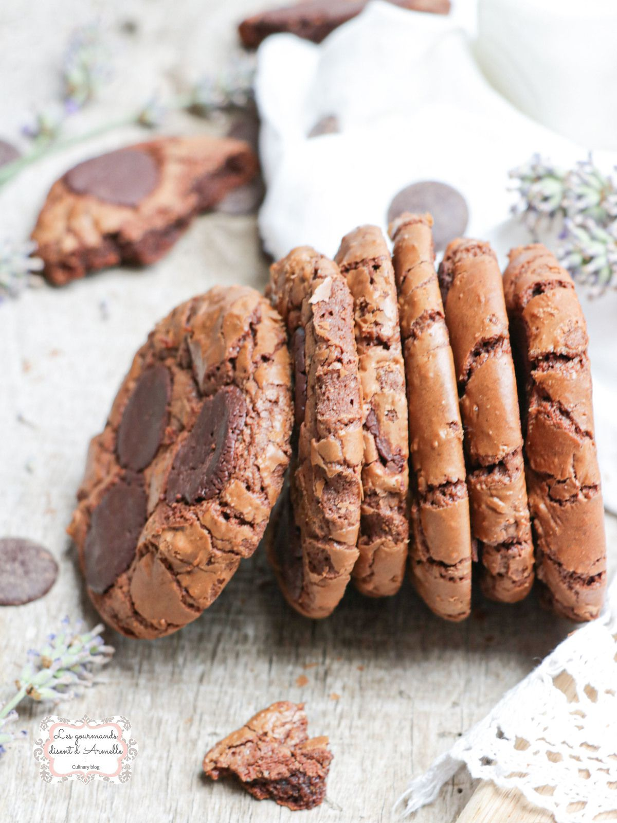 Outrageous Cookies ou cookies brownies @ Les Gourmands {disent} d'Armelle