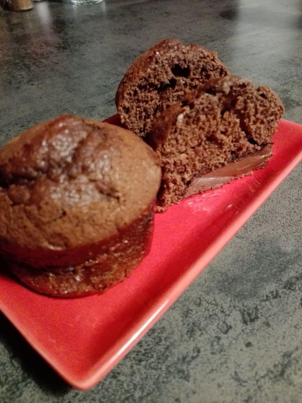 Muffins au nequick et Nutella