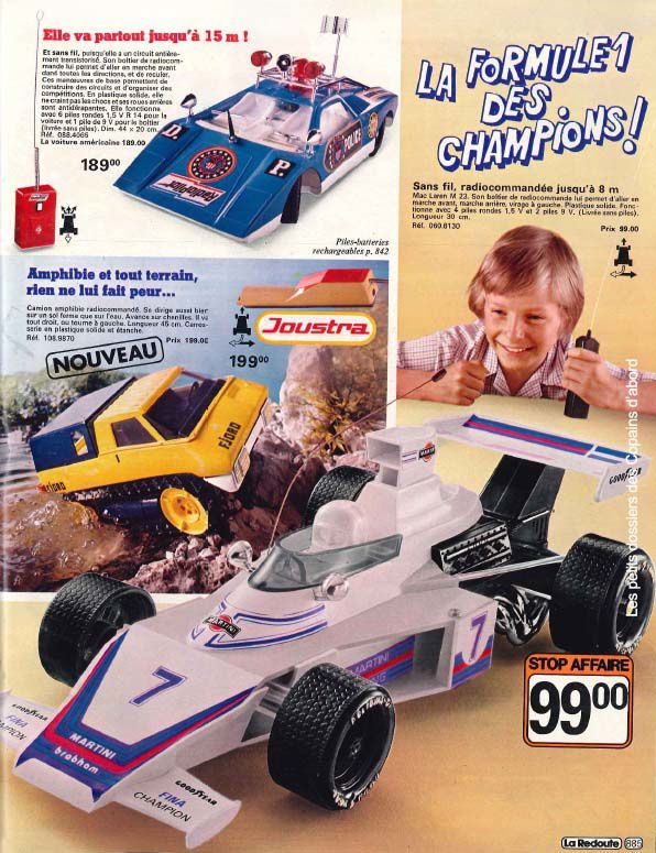 Les jouets du catalogue La Redoute 1979-80 par Nath-Didile