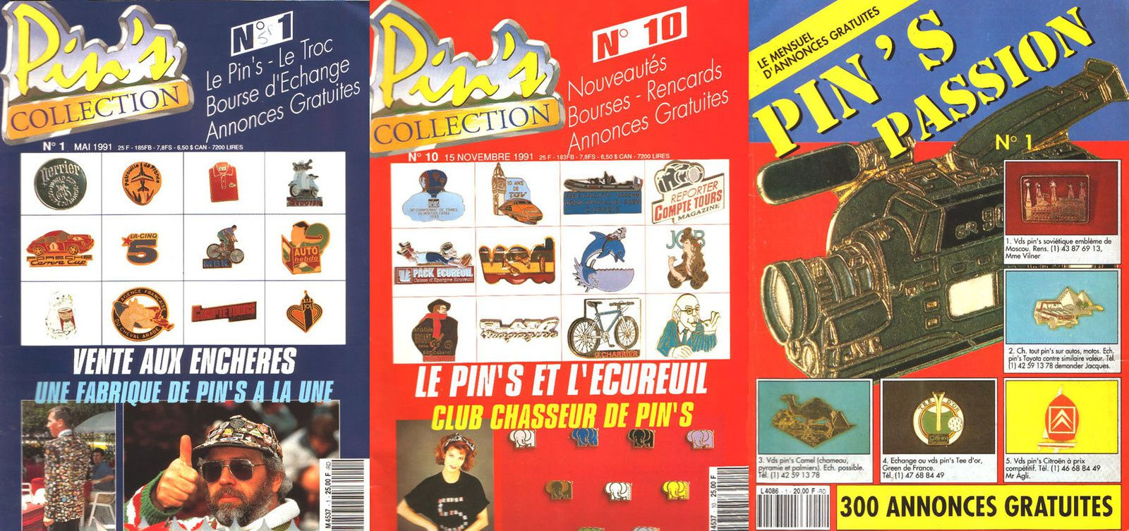 La folie des pin's 1987-1992 par Nath-Didile