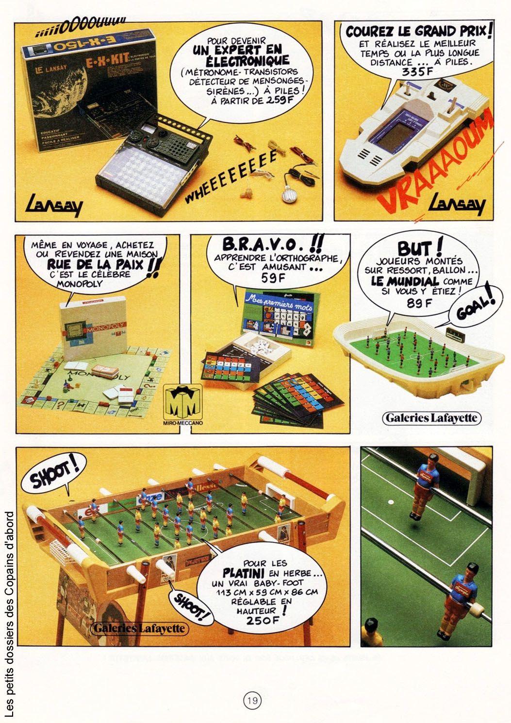 Le catalogue de jouets des Galeries Lafayette de 1981 par Nath-Didile