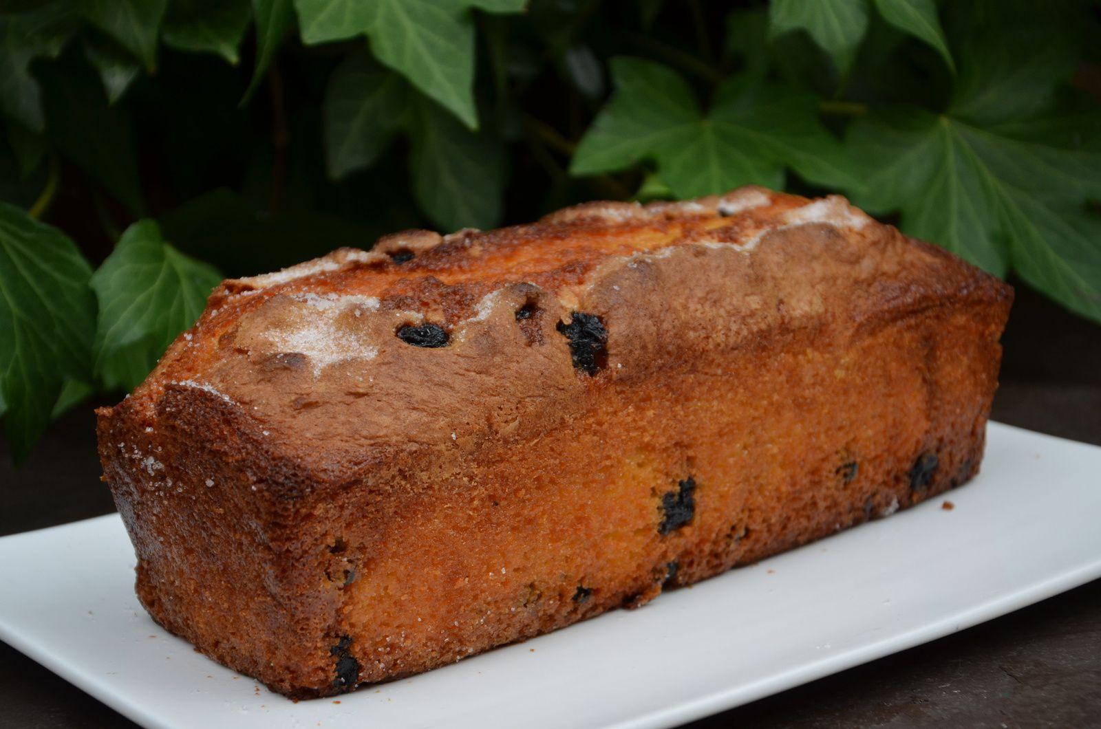 Cake aux myrtilles séchées