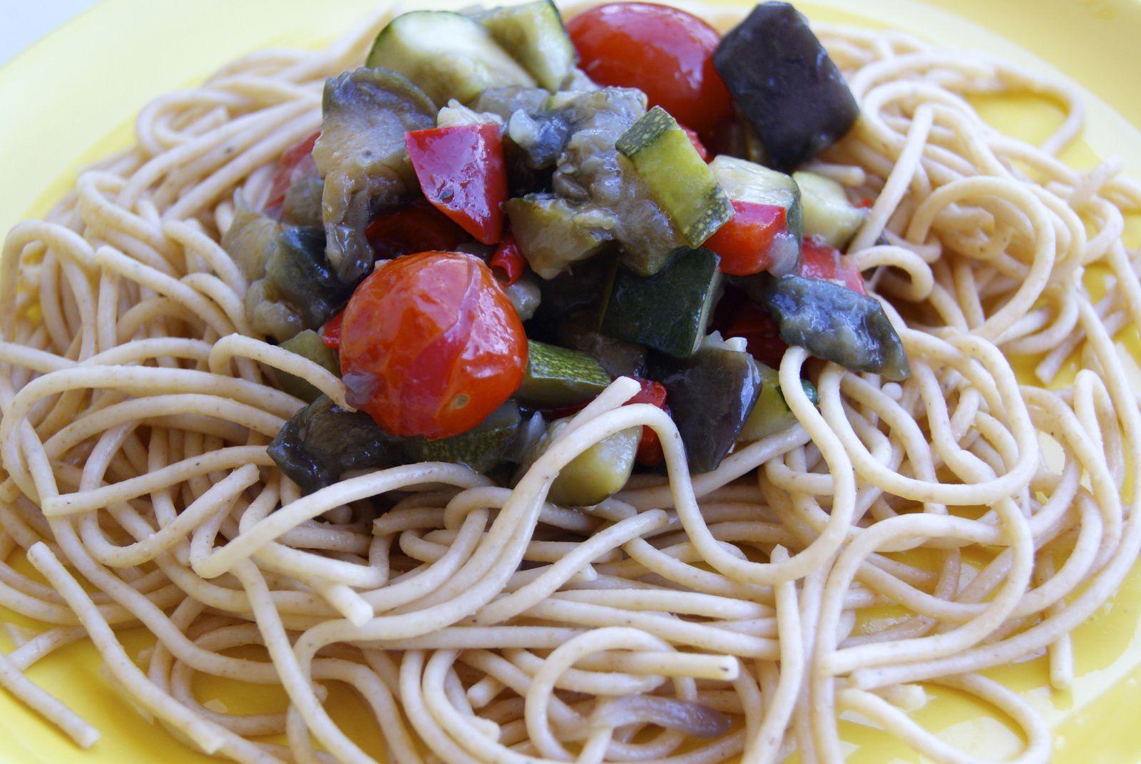 Spaghetti aux légumes du soleil