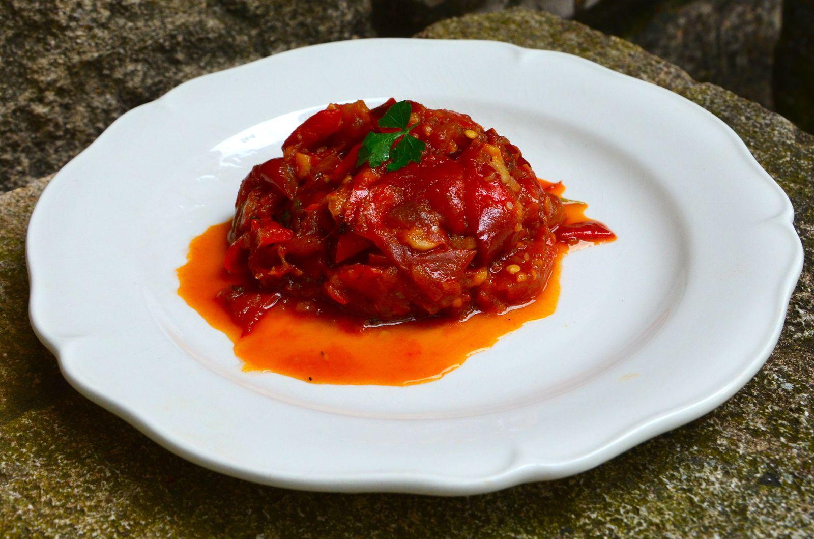 Compotée de poivrons et tomates