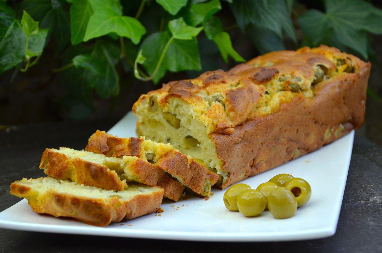Cake à la brousse aux olives vertes