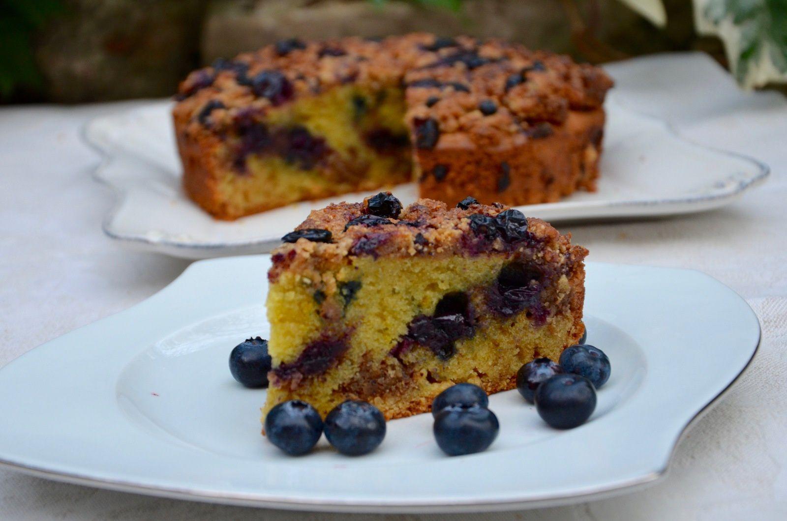 Crumb cake aux myrtilles