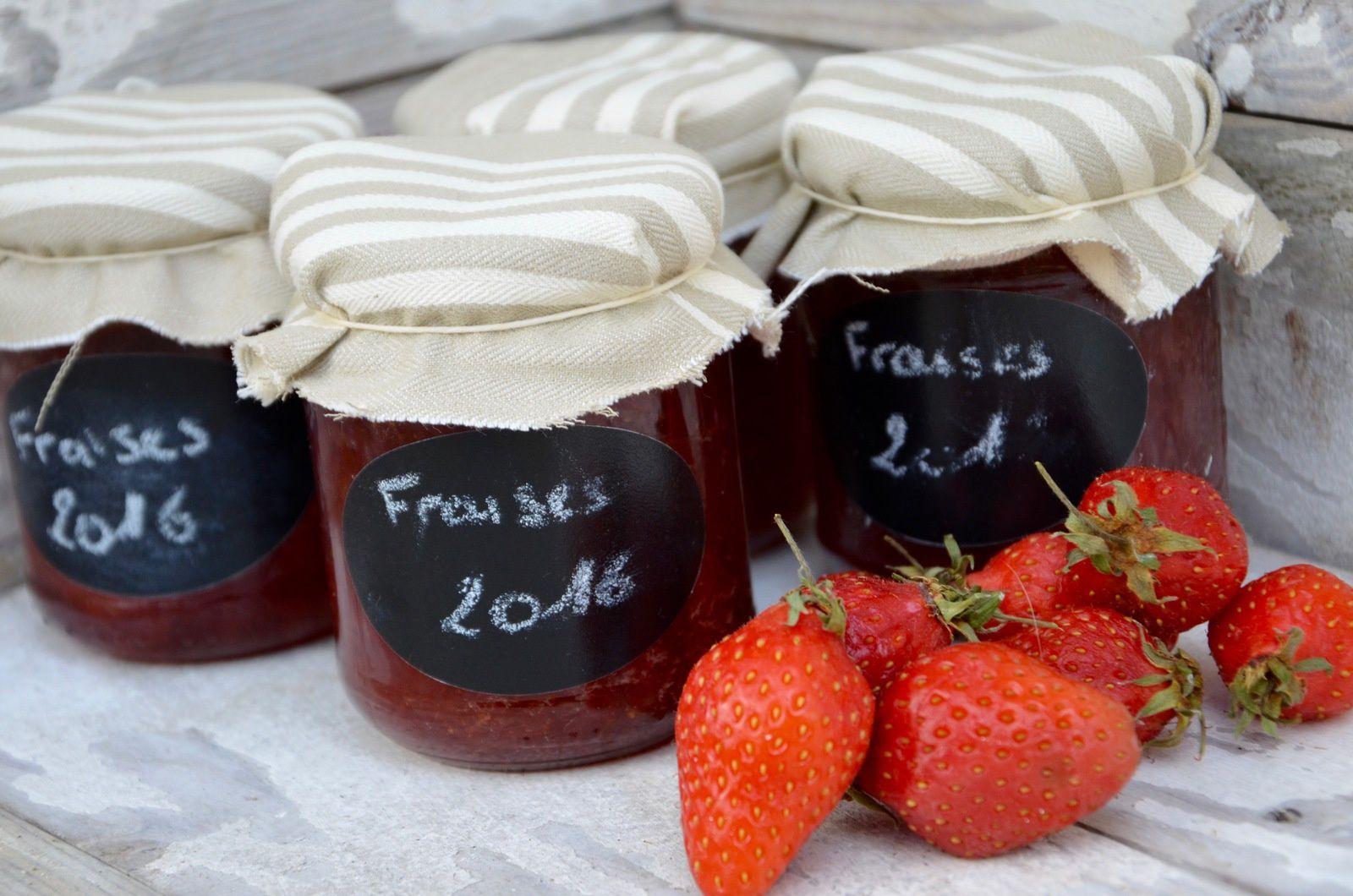 Confiture de fraises Gariguettes