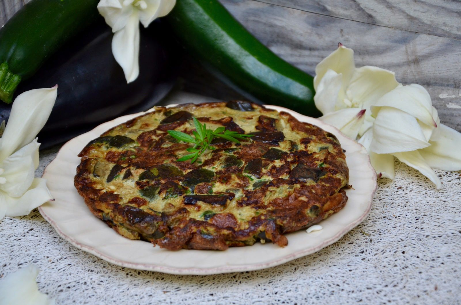 Omelette courgettes aubergines