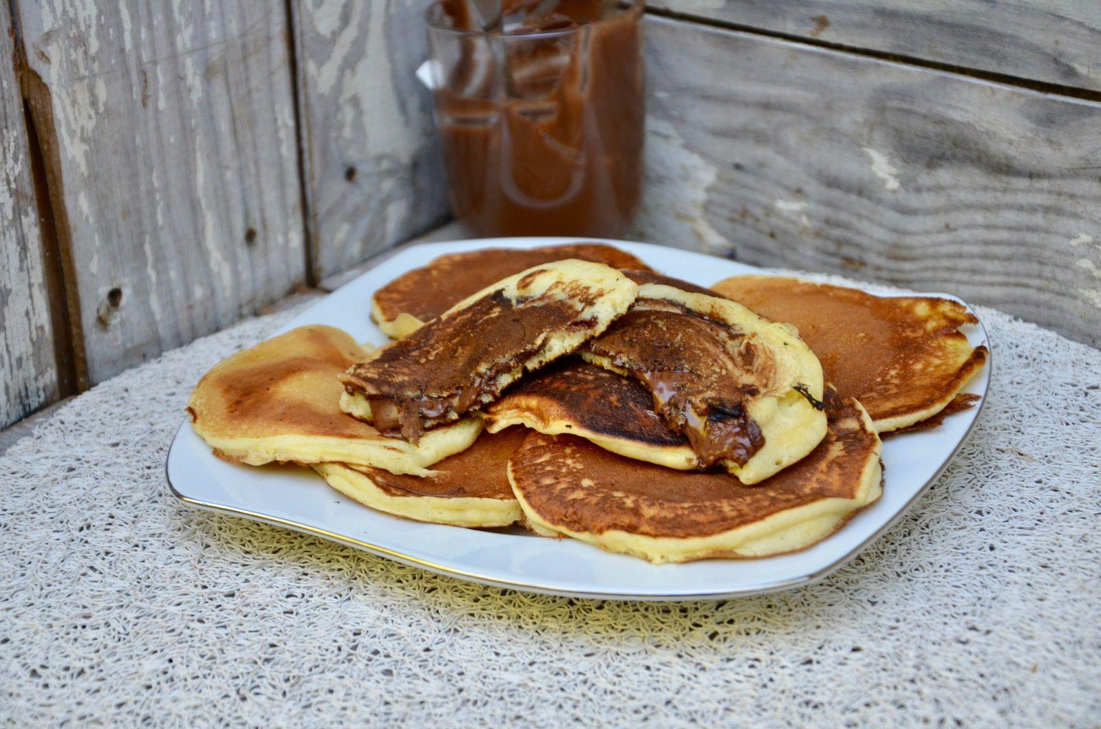 Pancakes à la pâte à tartiner