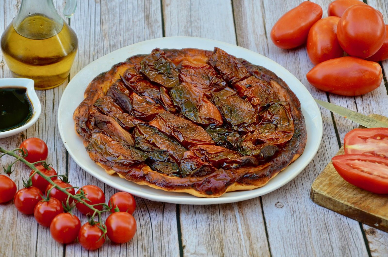 Tatin de tomates au balsamique