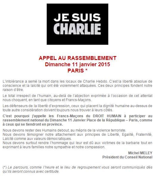 Communiqué de la Fédération Française du Droit Humain.
