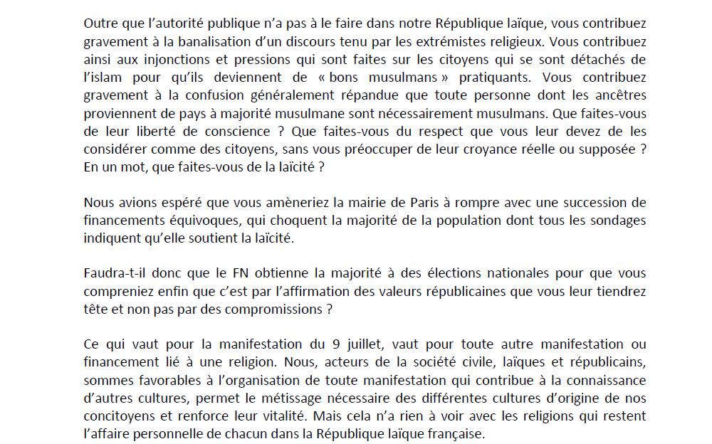 """Après des crèches dans des mairies ou des conseils généraux, voici """"la Nuit du Ramadan"""" à la Mairie de Paris !!!"""