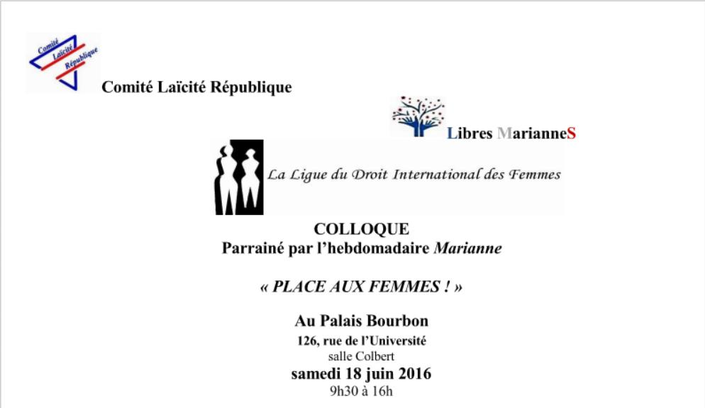 Samedi 18 juin, Place aux femmes au Palais Bourbon