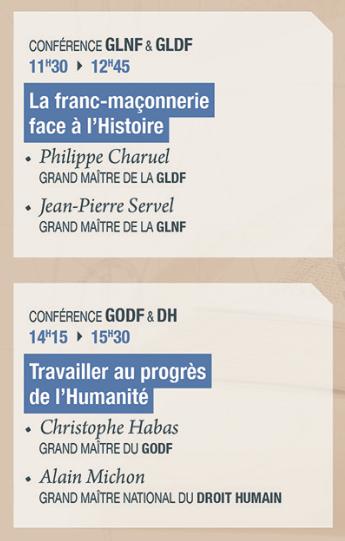 Les Conférences du 14° Salon Maçonnique du Livre - 19 et 20 novembre
