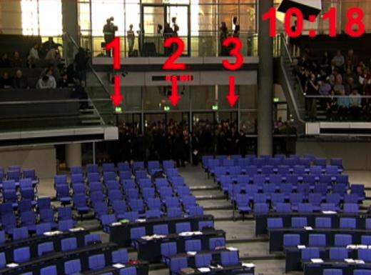 Hammelsprung au Bundestag.