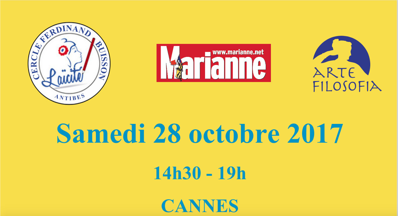 Cannes, 28 octobre : Sauvons la Laïcité !