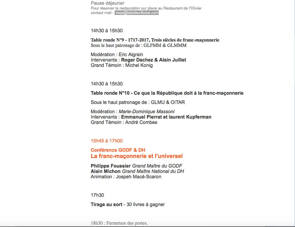 Le 15° Salon Maçonnique du Livre 18 et 19 novembre à la Bellevilloise.