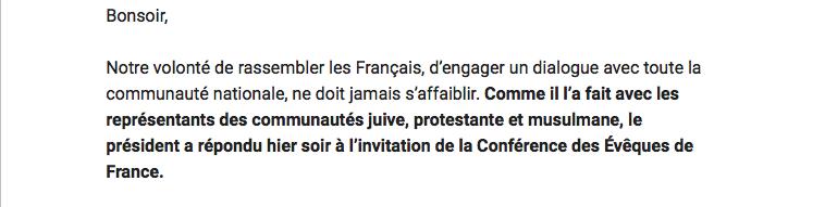 Extrait du bulletin d'En Marche publié au lendemain de l'intervention.