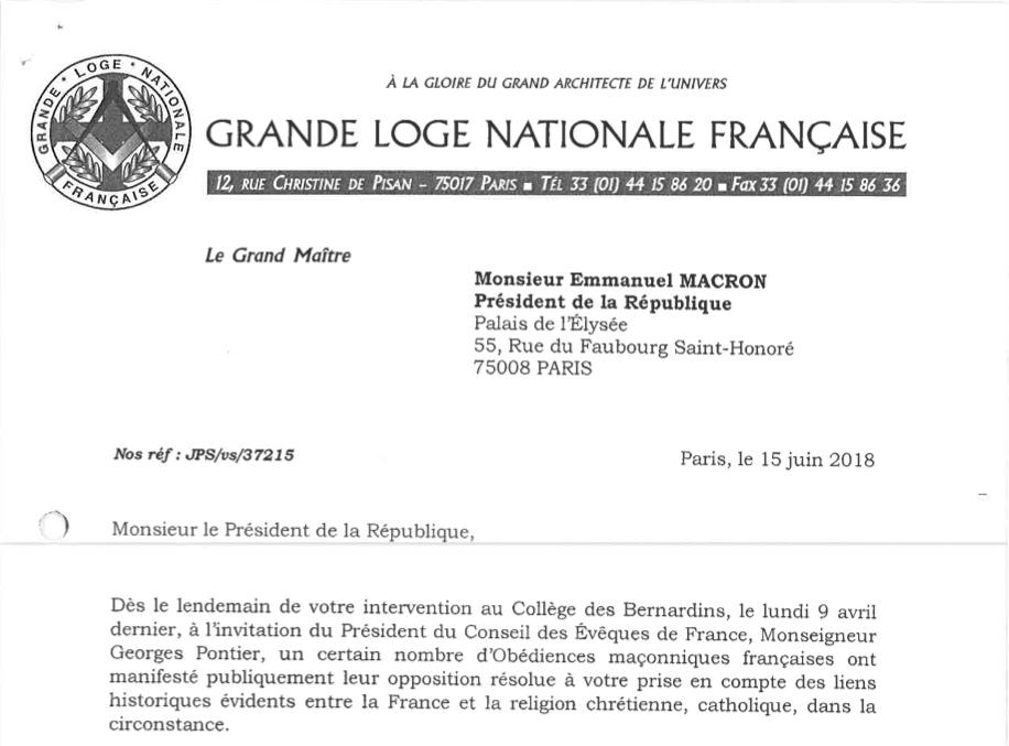 Landmark et usage épistolaire présidentiel à la GLNF.