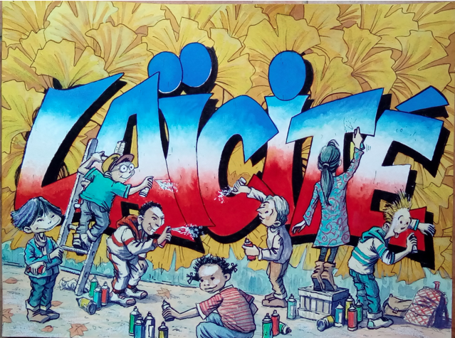 """Illustration d'Eric Degive pour """"ABC de la Laïcité"""" sous la direction d'Eddy Khaldi"""