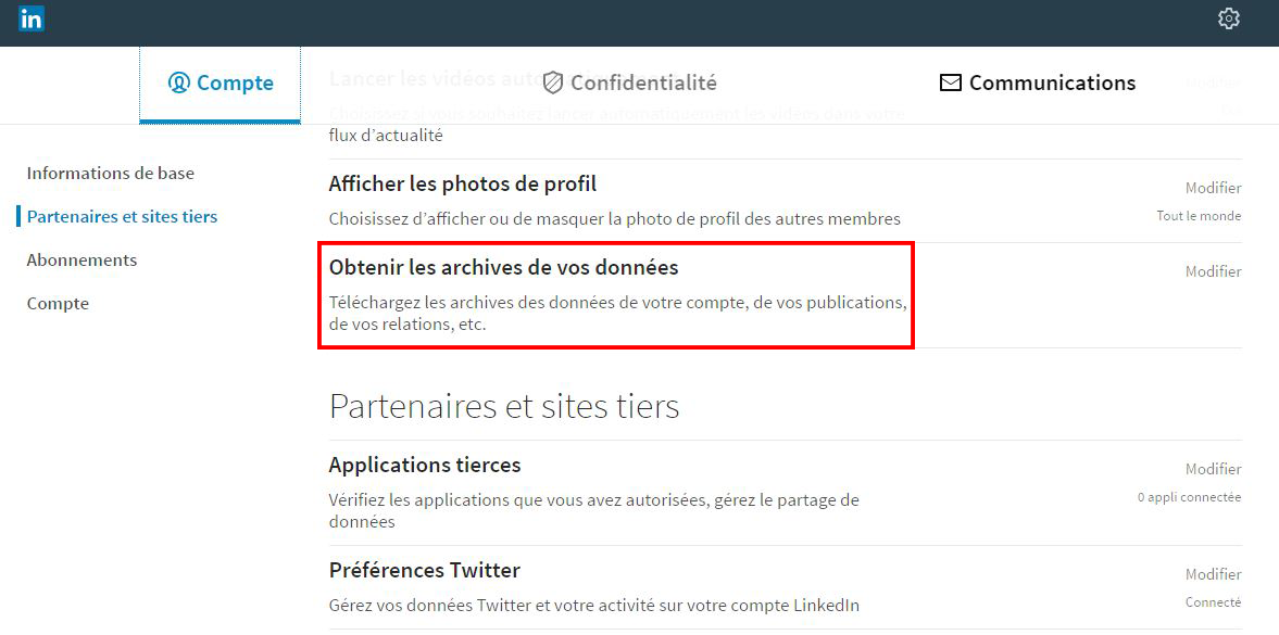 Tuto : exporter vos contacts sur Linkedin