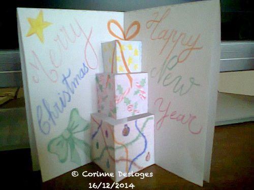 "Carte ""pyramide de cadeaux"" pop-up"