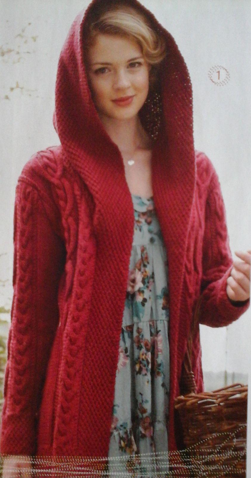 """veste """"petite chaperon rouge"""", modèle """"Ideal tricot n°63"""""""
