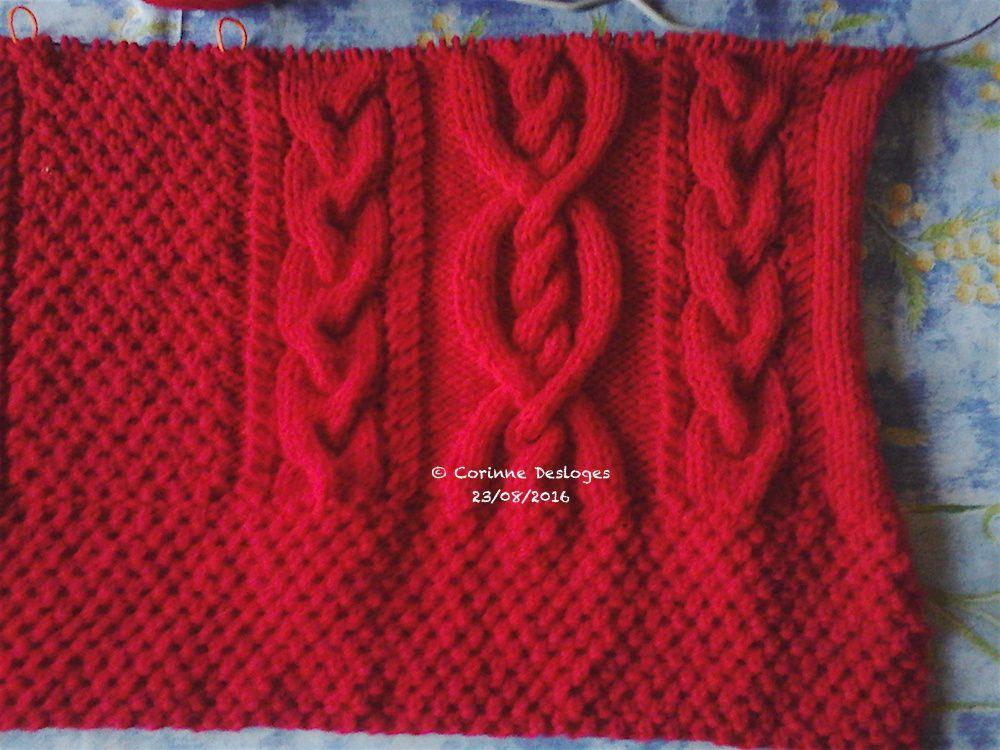"""TRICOT : veste """"Chaperon rouge"""", 3"""