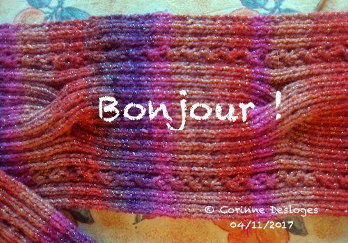 TRICOT : écharpe aux couleurs d'automne, 2