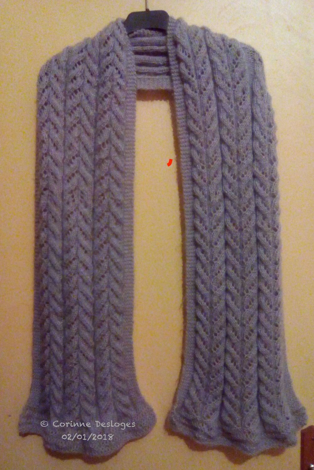TRICOT : écharpe Lady of the Lake terminée