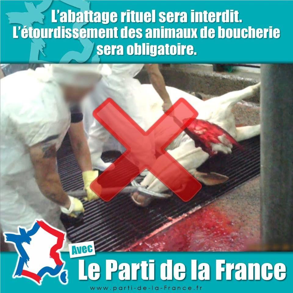 Le Parti de la France interdira l'abattage rituel
