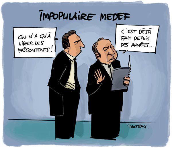 Sondage, Pierre Gataz, Crise économique, licenciements, popularité