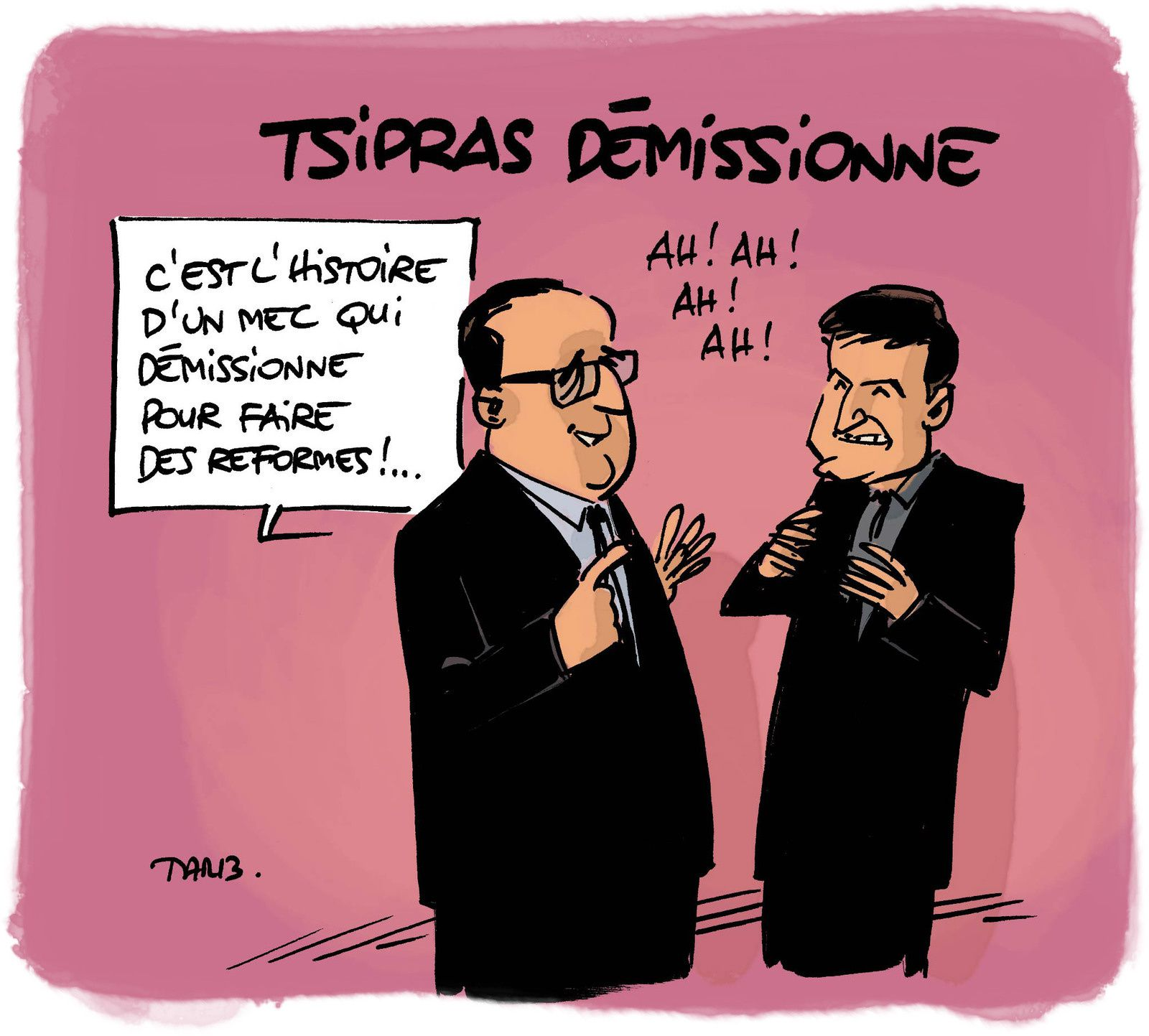 Tsipras démissionne