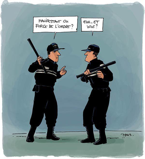 Manif de policiers