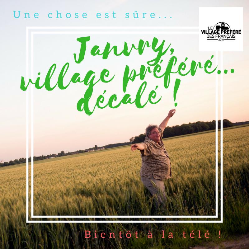 janvry village préféré des francais ,les chinois arrivent !  et les créatifs se déchainent
