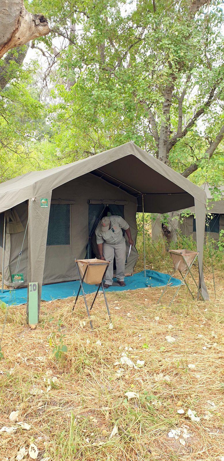 Khwai ,avec des tentes pour seule protection