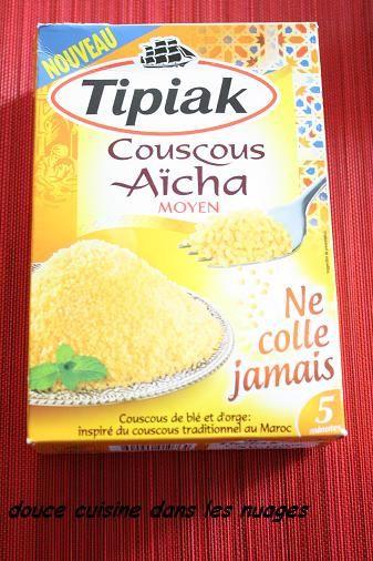 Couscous Aïcha de Tipiak aux fèves, carottes et courgettes