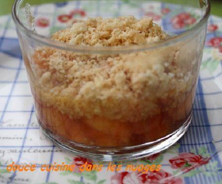 Melon Charentais et crumble à la noix de coco