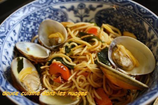 Somen, palourdes, algues wakamé et sauce ponzu aux trois agrumes