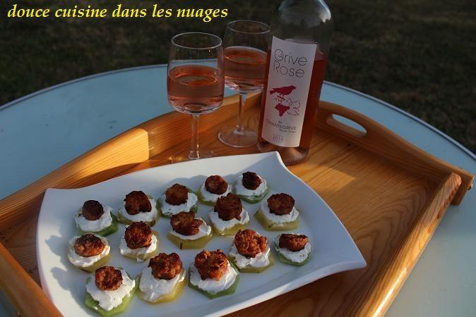 Bouchées de Kiwi et chorizo portugais