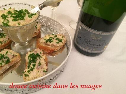 Champagne L.Benard-Pitois et rillette de lapin à la moutarde