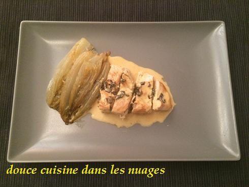 Escalopes de poulet à la crème aux algues nori