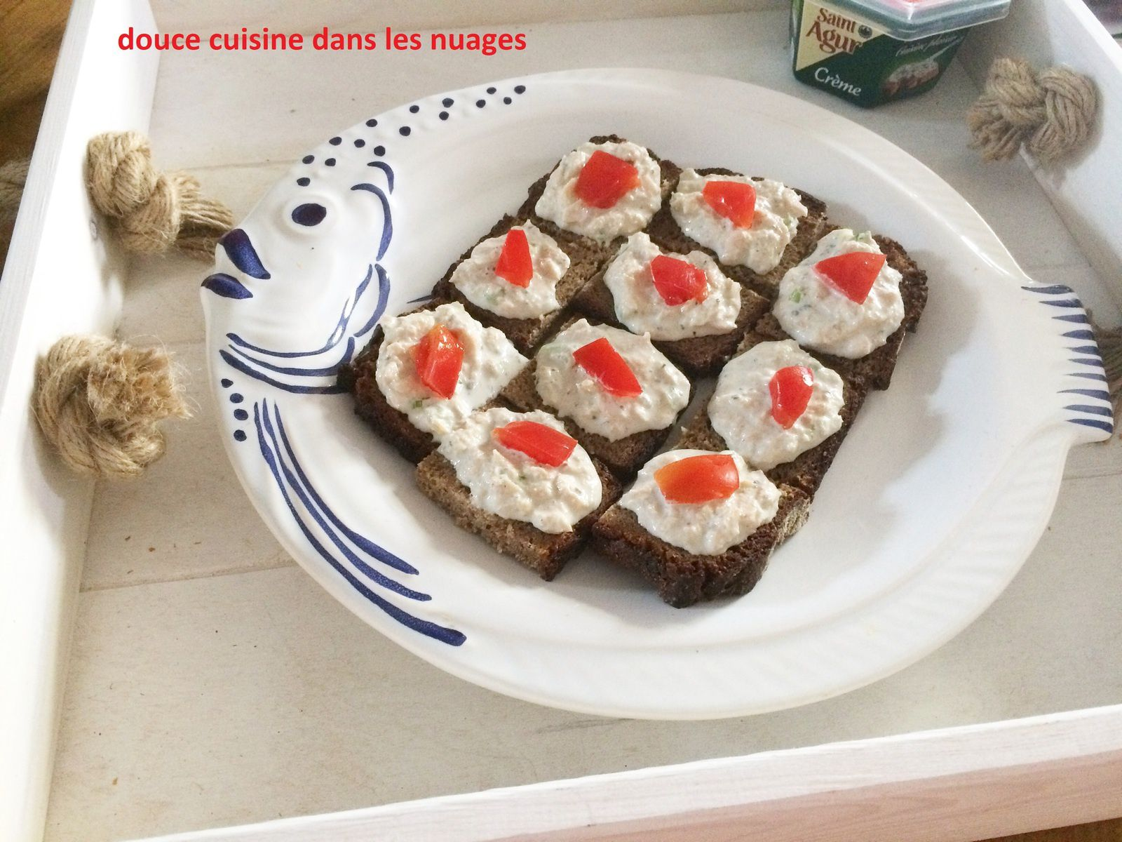 Rillettes de saumon à la crème de Saint Agur