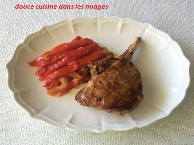 Côtes de porc ibérique au vinaigre de Pineau des Charentes