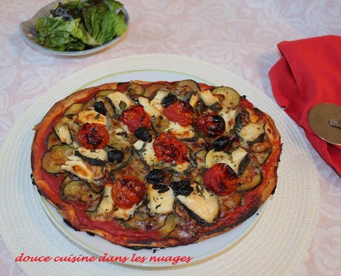 Pizza courgettes-selles sur Cher